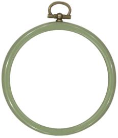 Kunststof Mini Borduurringetje OUD GROEN - Rond 8,5 cm