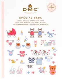 DMC Mini Borduurboekje SPÉCIAL BÉBÉ inclusief BORDUURGAREN
