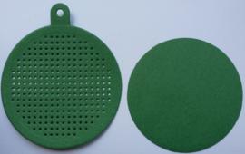 Kerstbal Groen - doorsnede 7.5 cm