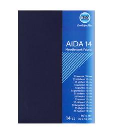 Aida 14 count Donkerblauw 39 x 45 cm (RTO)