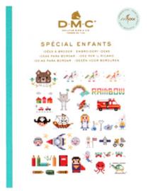 DMC Mini Borduurboekje SPÉCIAL ENFANTS inclusief BORDUURGAREN