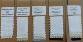 Staalkaart Aida 6 / 8 / 11 / 16 en 18 count