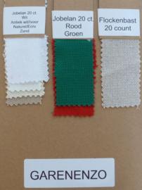 Staalkaart Jobelan 20 count / 4 kruisjes per cm
