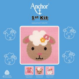 SCHAAP  borduurpakket 15 x 15 cm (Anchor)