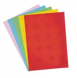 Gekleurd borduurkarton 5 stuks