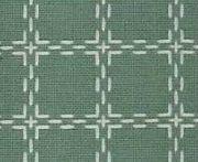 Beiersbont Groengrijs / Ivoor  - afmeting 100 x 160 cm