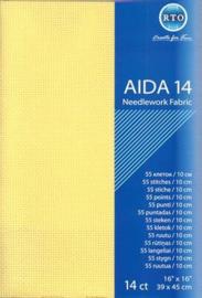 Aida 14 count Geel 39 x 45 cm (RTO)