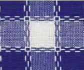 Beiersbont Blauw / Bleu / Wit - afmeting 100 x 160 cm