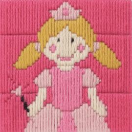 PRINSES  borduurpakket 10 x 10 cm (Anchor) - Spansteek / Platsteek
