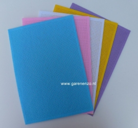 Borduurvilt gekleurd - Pastel (5 stuks ) 21 x 29,5 cm