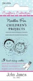 Setje borduurnaalden voor kinderen van John James