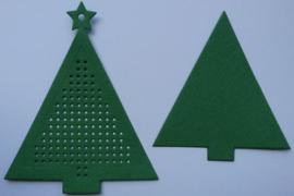 Kerstboom Groen met ster - afmeting 7.7 x 9.5
