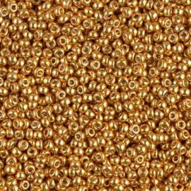 2 mm Miyuki Rocailles 11-4203 Yellow GoldDuracoat Galvanized- 10 gram