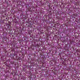 2 mm Miyuki Rocailles 11- 0264 Raspberry Lined Crystal AB - 10 gram
