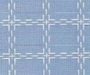 Beiersbont Bleu / Wit  - afmeting 100 x 160 cm