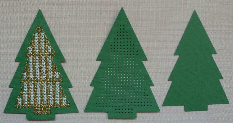 Kerstboom Groen 8.5 x 12 cm