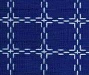Coupon Beiersbont Blauw / Wit - afmeting 100 x 80 cm