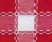 Beiersbont Rood / Rose / Wit - afmeting 100 x 160 cm