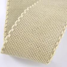 Aida borduurband natuur/linnen 7 cm breed