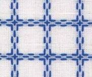 Coupon Beiersbont Wit / Blauw  - afmeting 50 x 80 cm