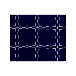 Beiersbont Marineblauw / Wit  - afmeting 50 x 80 cm