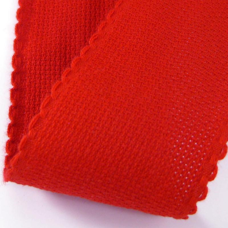 Aida borduurband Rood 10 cm breed