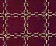 Beiersbont Bordeaux / Beige - afmeting 100 x 160 cm