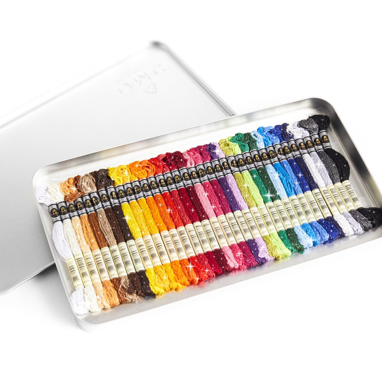 DMC Mouline Special Etoile - Alle 35 kleuren in een mooi metaalkleurig Blik