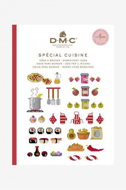 DMC Mini Borduurboekje SPÉCIAL CUISINE inclusief BORDUURGAREN