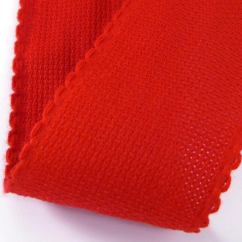 Restje Aida borduurband Rood 5 cm breed x 95 cm