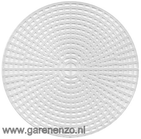 Plastic Stramien ROND 14 cm