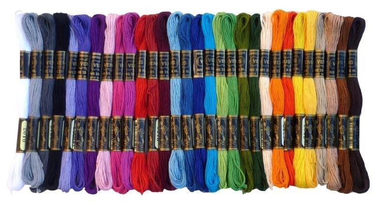 Set van 30 kleuren Venus borduurgaren