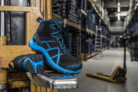 Haix Black Eagle Safety 40 Mid zwart/blauw
