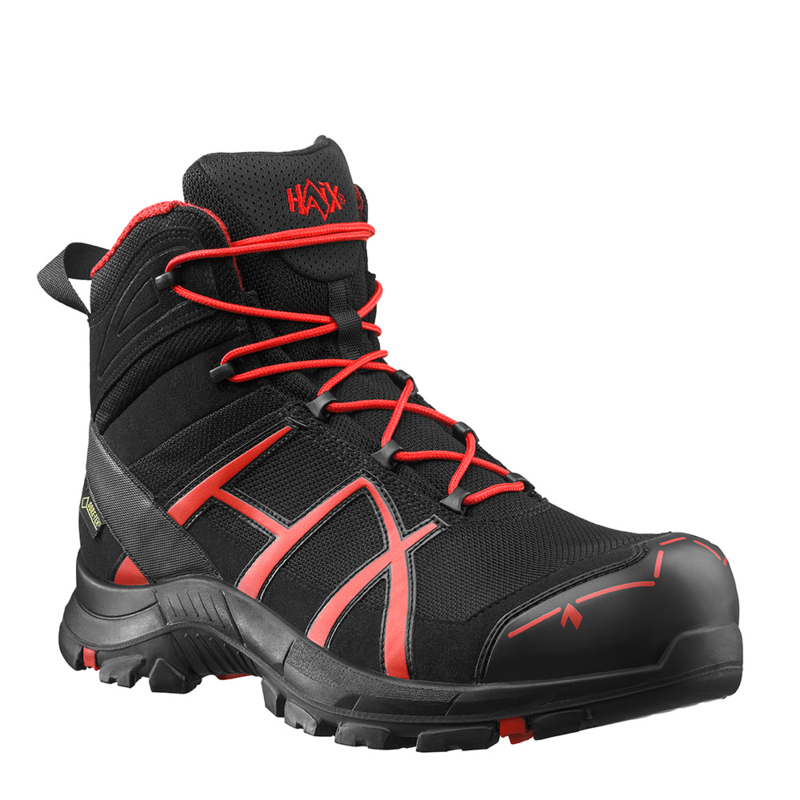 Haix Black Eagle Safety 40 Mid zwart/rood
