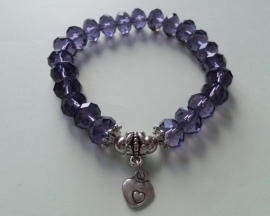 201254 Donkerpaarse armband