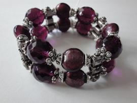 201302 Paarse armband