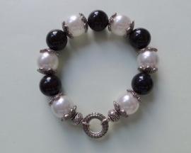 201255 Zwart/witte armband
