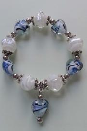 201243 Wit/blauwe armband
