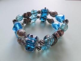201238 Blauwe armband