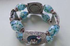 201260 Groen/blauwe armband