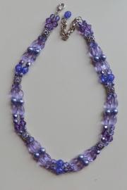 201345 Paars/Violet ketting
