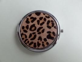 201290 Make-up spiegel leer/vacht