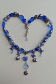 201321 Blauwe ketting