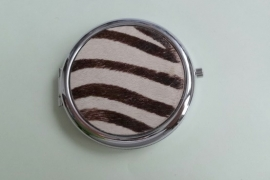 201291 Make-up spiegel leer/vacht