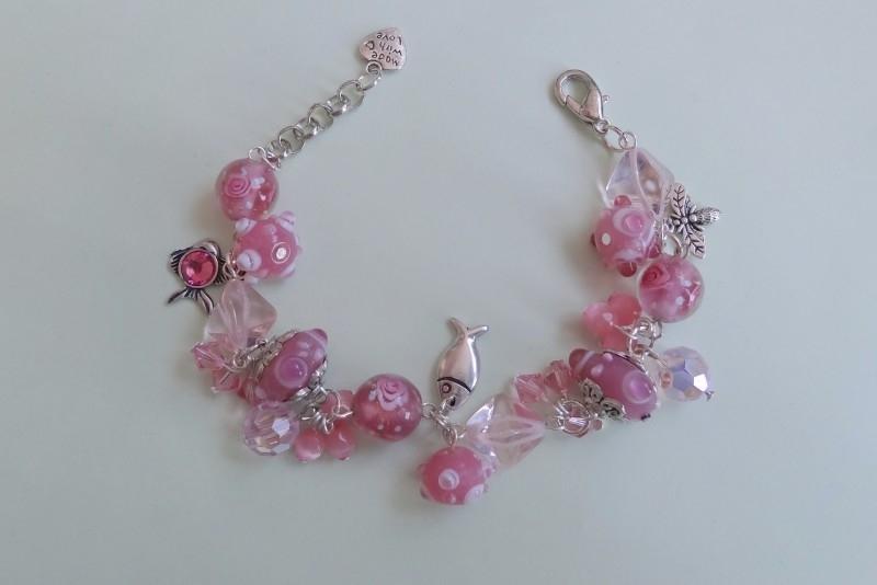 201246 Roze armband