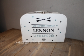Koffertje 30 cm 2 kleurig