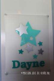 Geboorte raambord stars