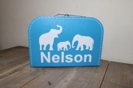 Koffertje olifanten 30 cm