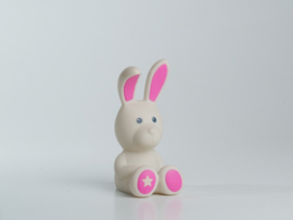 Mini spaarpotje konijn met roze