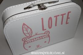 Koffertje 30 cm indiaantje